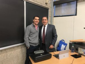Brooks International CEO Lui Damasceno gives speech to honors business students at Seton Hall University's Stillman School of Business, Leadership Development Honors Program